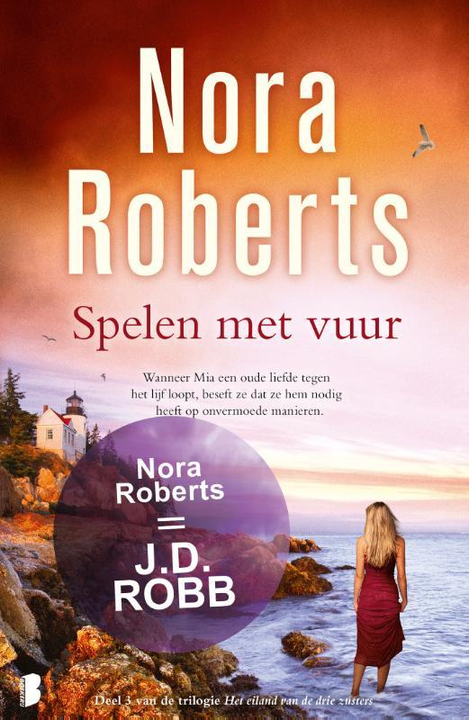 Spelen met vuur het eiland van de drie zusters, Nora Roberts, Paperback