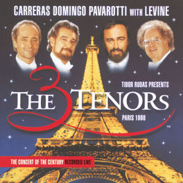 PARIS 1998 THREE TENORS WITH LEVINE/ORCHESTRE DE PARIS Audio CD, CARRERAS/DOMINGO/PAVAROTT, CD