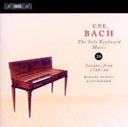 SOLO KEYBOARD MUSIC VOL.2 MIKLOS SPANYI C.P.E. BACH, CD