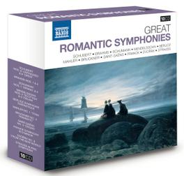 GREAT ROMANTIC SYMPHONIES SCHUBERT/BRAHMS/MENDELSSOHN/BERLIOZ/BRUCKNER/FRANCK... V/A, CD