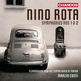 SYMPHONIES NO.1 & 2 FIL.900 TEATRO REGIO DI TORINO Audio CD, N. ROTA, CD