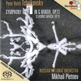 SYMPHONY NO.1/MARCHE SLAV RUSSIAN NAT.ORCHESTRA/M.PLETNEV P.I. TCHAIKOVSKY, CD