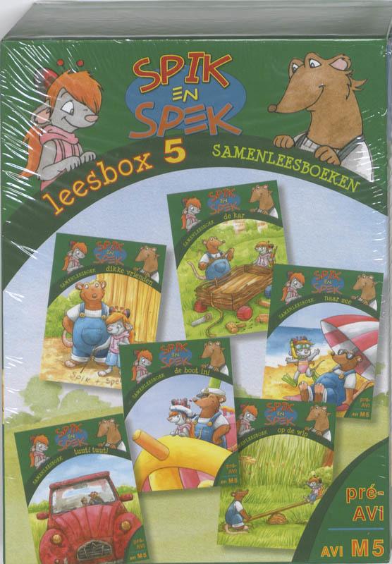 Leesbox 5: Spik en Spek Samenleesboeken. tuut! tuut!, Naar zee, de boot in, op de wip, de kar, dikke vrienden, Mulder, Marja, Hardcover