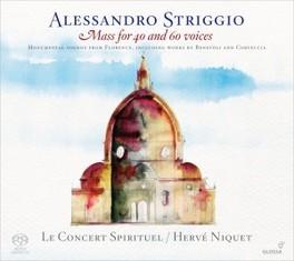 MASS FOR 40 AND 60 VOICES LE CONCERT SPIRITUEL/HERVE NIQUET A. STRIGGIO, CD