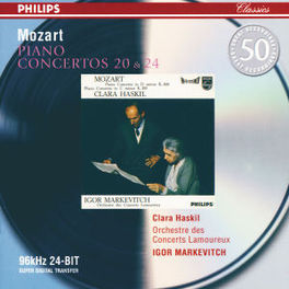 PIANO CONCERTOS NO.20&24 W/HASKIL, ORCH.LAMOUREUX, MARKEVITCH Audio CD, W.A. MOZART, CD