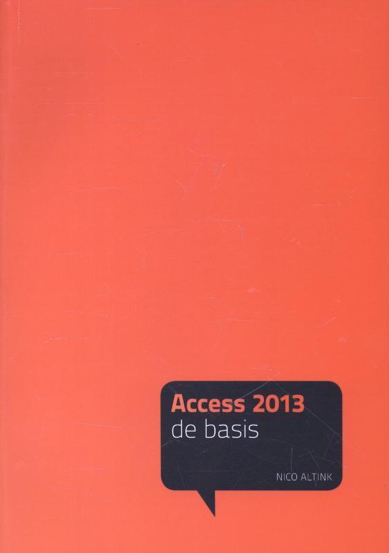 Acces 2013 De basis