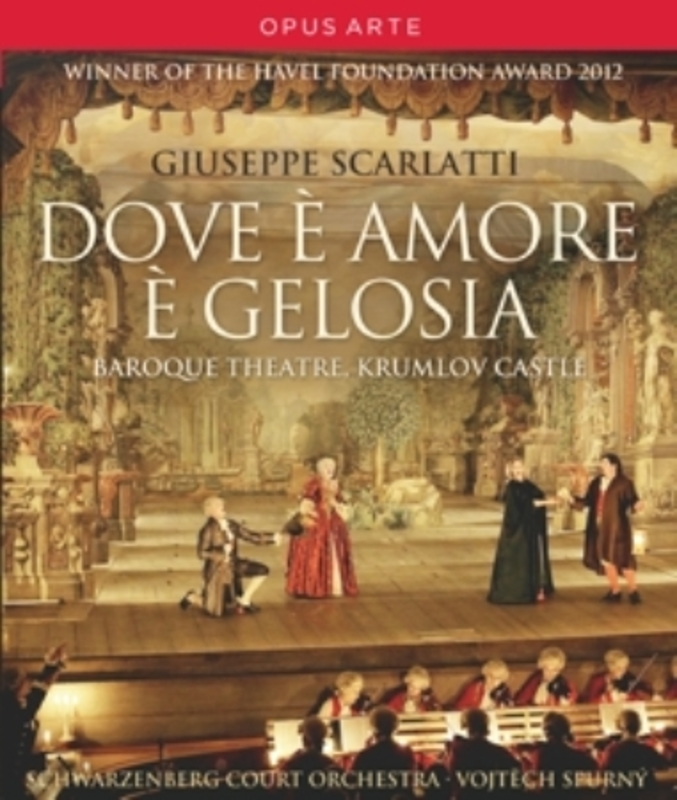 DOVE E AMORE E GELOSIA SCHWARZENBERG COURT ORCHESTRA A. SCARLATTI, Blu-Ray