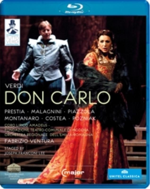 Prestia,Malagnini,Piazzola - Don Carlo, Modena 2012, Br, (Blu-Ray) MODENA 2012 // FABRIZIO VENTURA G. VERDI, Blu-Ray