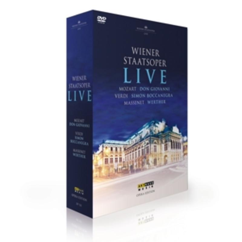 LIVE:3 OPERA'S DON GIOVANNI/SIMON BOCCANEGRA/WERTHER // NTSC/ALL REG. Mozart: Don Giovanni // Verdi: Simon Boccanegra // Massenet: Werther, WIENER STAATS OPER, DVD