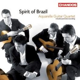 SPIRIT OF BRAZIL AQUARELLE GUITAR QUARTET Audio CD, ASSAD/VILLA-LOBOS/DYENS, CD
