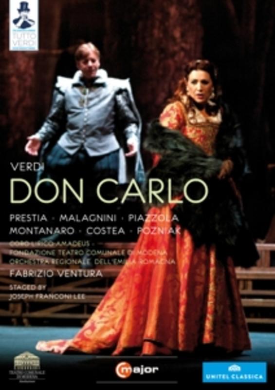 Prestia,Malagnini,Piazzola - Don Carlo, Modena 2012, (DVD) NTSC/ALL REGIONS/MODENA 2012/W/PRESTIA/MALAGNINI/PIAZZO G. VERDI, DVDNL