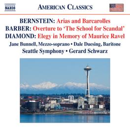 ARIAS & BARCAROLLES SEATTLE SYMPHONY/GERRAD SCHWARZ BERNSTEIN/BARBER/DIAMOND, CD
