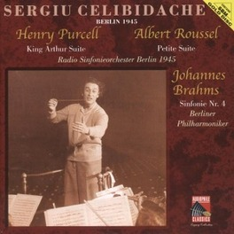 KING ARTHUR SUITE/PETITE SERGIU CELIBIDACHE/RADIO SINFONIEORCHESTER BERLIN 1945 Audio CD, PURCELL/ROUSSEL/BRAHMS, CD