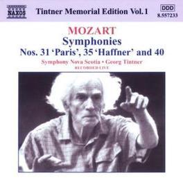 TINTNER MEMORIAL EDITION NOVA SCOTIA S.O. W.A. MOZART, CD