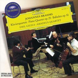 PIANO QUARTET NO. 1 -GILELS/AMADEUS QUARTET Audio CD, BRAHMS/CHERUBINI, CD