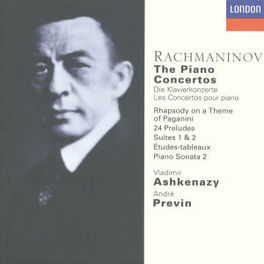 PIANOCONCERTS 1-4 ..PIANOWORKS - ASHKENAZY/LONDON SYMPH.ORCH./PREVIN Audio CD, S. RACHMANINOV, CD