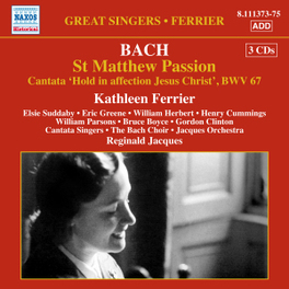 ST.MATTHEW PASSION CANTATA SINGERS J.S. BACH, CD