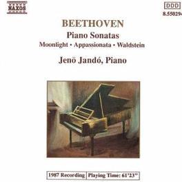 PIANO SONATAS 14 MOONLIGH 21 WALDSTEIN & 23 APPASSIONATA JENO JANDO L. VAN BEETHOVEN, CD
