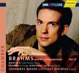 BRAHMS AND HIS CONTEMPORA MOSER/RIVINIUS Audio CD, MARTUCCI/BRAHMS, CD