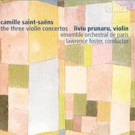 THREE VIOLIN CONCERTOS ENSEBLE ORCH.DE PARIS/LAWRENCE FOSTER SAINT-SAENS, C., CD