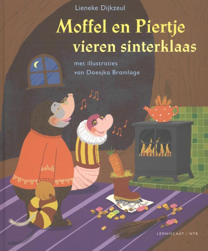 Moffel en Piertje vieren Sinterklaas Moffel en Piertje, Lieneke Dijkzeul, Hardcover