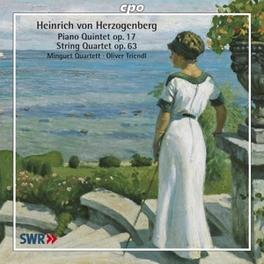 PIANO QUINTET/STRING.. .. QUARTET//TRIENDL, OLIVER/MINGUET QUARTETT Audio CD, H. VON HERZOGENBERG, CD