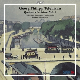 QUATUORS PARISIENS VOL.1 JOHN HOLOWAY, LINDE BRUNMAYR, DUFTSCHMID Audio CD, G.P. TELEMANN, CD