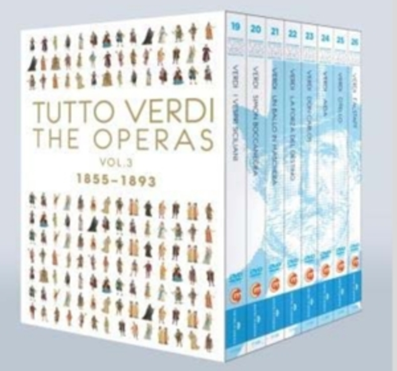 TUTTO VERDI BOX 3 THE OPERAS 1855-1893//NTSC, ALL REGIONS G. VERDI, DVDNL