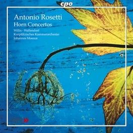 HORN CONCERTOS WALLENDORF, KLAUS/WILLIS, SARAH//MOESUS, JOHANNES Audio CD, A. ROSETTI, CD