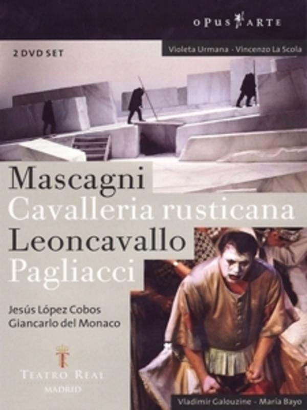 CAVALLERIA RUSTICANA/PAGLIACCI, MASCAGNI/LEONCAVALLO, COBOS, J.L. NTSC/ALL REGIONS W/JESUS LOPEZ COBOS/GIANCARLO D.MONACO DVD, MASCAGNI/LEONCAVALLO, DVD