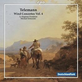 COMPLETE WIND CONCERTOS 4 LA STAGIONE FRANKFURT/MICHAEL SCHNEIDER Audio CD, G.P. TELEMANN, CD