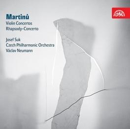 VIOLIN CONCERTOS NO.1&2 CZECH P.O./NEUMANN/SUK Audio CD, B. MARTINU, CD