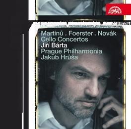 CONCERTOS FOR CELLO &.. .. ORCHESTRA//BARTA/PRAGUE PHILHARMONIA//HRUSA, J. Audio CD, MARTINU/FOERSTER/NOVAK, CD