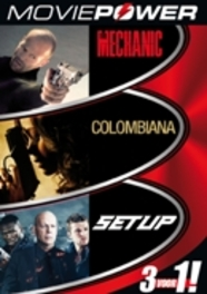 Moviepower box 1, (DVD) PAL/ALL REGIONS // THE MECHANIC, COLOMBIANA, SETUP MOVIE, DVDNL