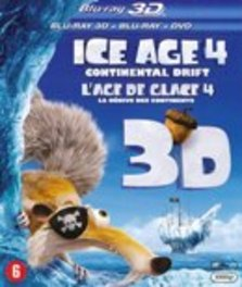 Ice age 4 (2D+3D), (Blu-Ray) BILINGUAL-2D + 3D COMBO INCL. DVD / *CONTINENTAL DRIFT* ANIMATION, Blu-Ray
