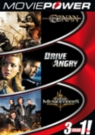 Moviepower box 2, (DVD) ALL REGIONS // CONAN, DRIVE ANGRY, THREE MUSKETEERS MOVIE, DVDNL