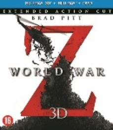 World war Z 3D, (Blu-Ray) BILINGUAL - SUPERSET 3D+2D INCL.DVD // W/ BRAD PITT MOVIE, Blu-Ray