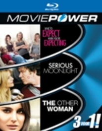 Moviepower box 3, (Blu-Ray) WHAT TO EXPECT WHEN YOU'RE EXPECTING | SERIOUS MOONLIGH MOVIE, Blu-Ray