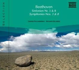 SYMPHONIES NO.3 & 8 ZAGREB P.O./EDLINGER L. VAN BEETHOVEN, CD