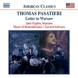LETTER TO WARSAW T. PASATIERI, CD