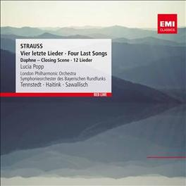 FOUR LAST SONGS/LIEDER LUCIA POPP/KLAUS TENNSTEDT/WOLFGANG SAWALLISCH R. STRAUSS, CD