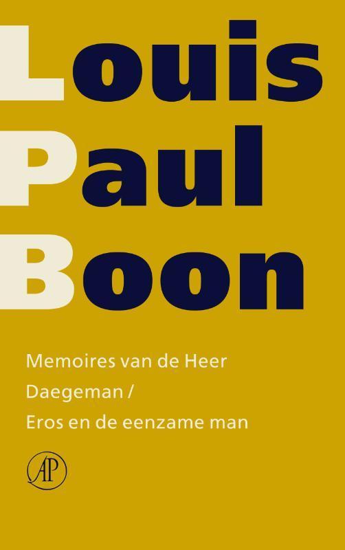 Memoires van de Heer Daegeman  Eros en de eenzame man Verzameld werk, Boon, Louis Paul, Paperback