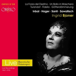 LIVE RECORDINGS 1955-1971 BAYERISCHE STAATSOPER/INBAL/HAGER Audio CD, INGRID BJONER, CD