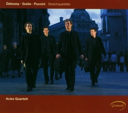 STRING QUARTETS ACIES QUARTETT Audio CD, DEBUSSY/PUCCINI/GULDA, CD