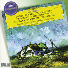 PRELUDES/MAZEPPA/MA VLAST BERLINER PHILHARMONIC/HERBERT VON KARAJAN Audio CD, LISZT/SMETANA, CD