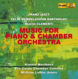 MUSIC FOR PIANO & CHAMBER PRO CORDE Audio CD, LISZT/MENDELSSOHN/CLEMENT, CD