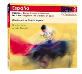 ESPANA:GUITAR CONCERTO ATAULFO ARGENTA/ANDRES SEGOVIA RODRIGO/FALLA, CD