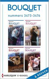 Bouquet e-bundel nummers 3473-3476 (4-in-1) De kus van de sjeik ; Diamanten en kaviaar ; Verboden liefde ; Een onverwachte schat, Harris, Lynn Raye, Ebook