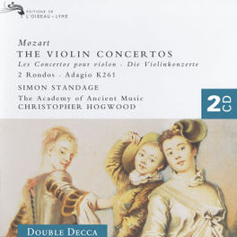 VIOLIN CONCERTS 1-5 SIMON STANDAGE/CHRISTOPHER HOGWOOD/ACADEMY OF ANCIENT M Audio CD, W.A. MOZART, CD