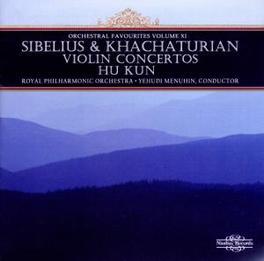 VIOLIN CONCERTOS HU KUN, VIOLIN/ORCHESTRAL FAVOURITES VOL.6 Audio CD, SIBELIUS/KHACHATURIAN, CD